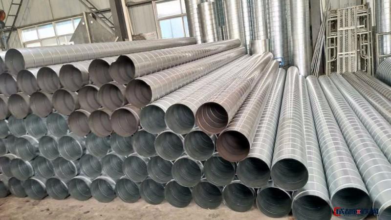 碳钢镀锌铁皮螺旋管   304不锈钢风管