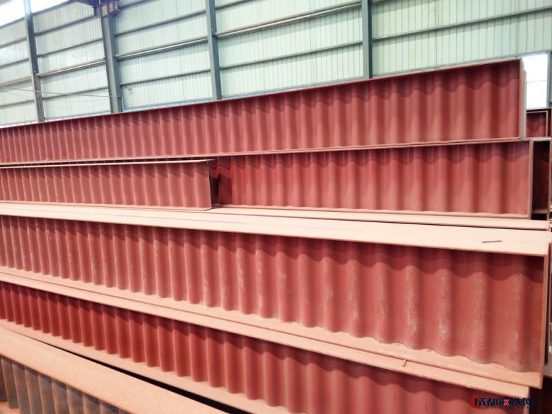 新型波形钢板 波纹腹板H型钢 欧斯曼波浪型H型钢生产线 定制