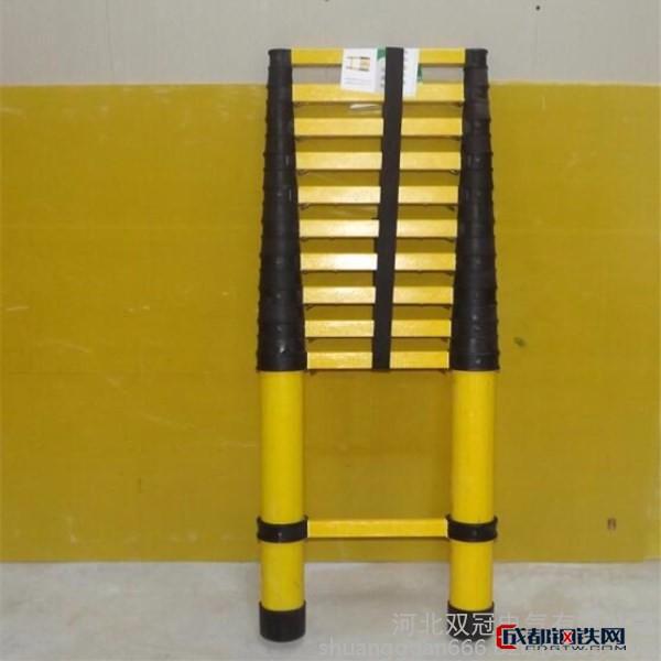 电工用绝缘伸缩梯  玻璃钢圆管梯子  鱼竿式伸缩梯生产厂家