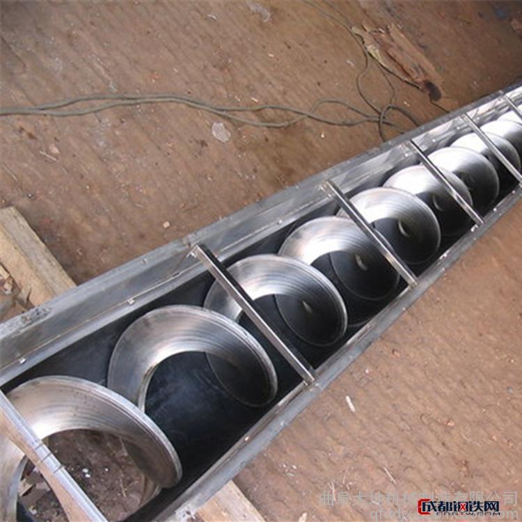 加工提升式螺旋上料机 螺旋管式提升机 小型螺旋饲料提升机