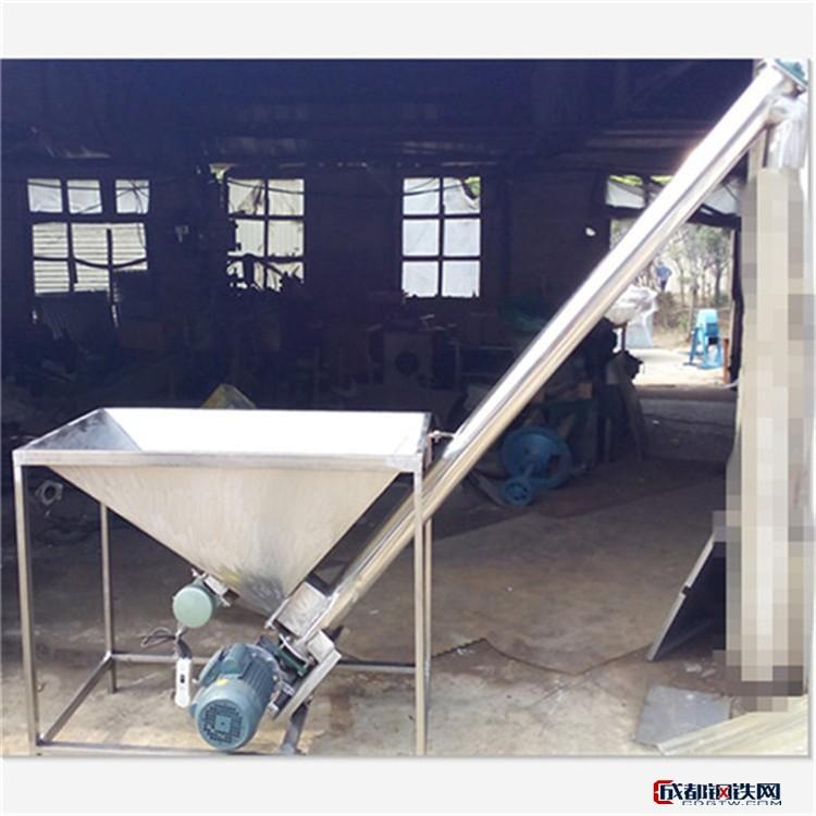 兴运垂直式螺旋提升机 倾斜式不锈钢圆管提升机  移动式家用不锈钢上料机