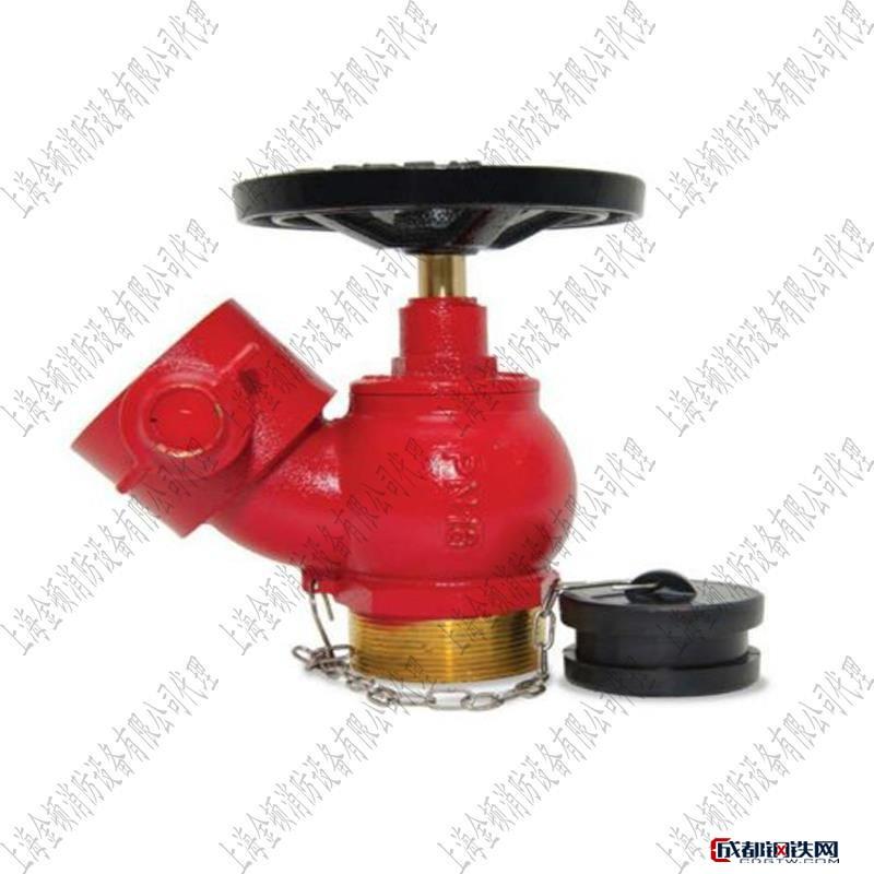 金頓斜式消火栓DN65斜口消火栓英式全銅消防栓英式地上栓船用消火栓 卷盤 室外消火栓圖片