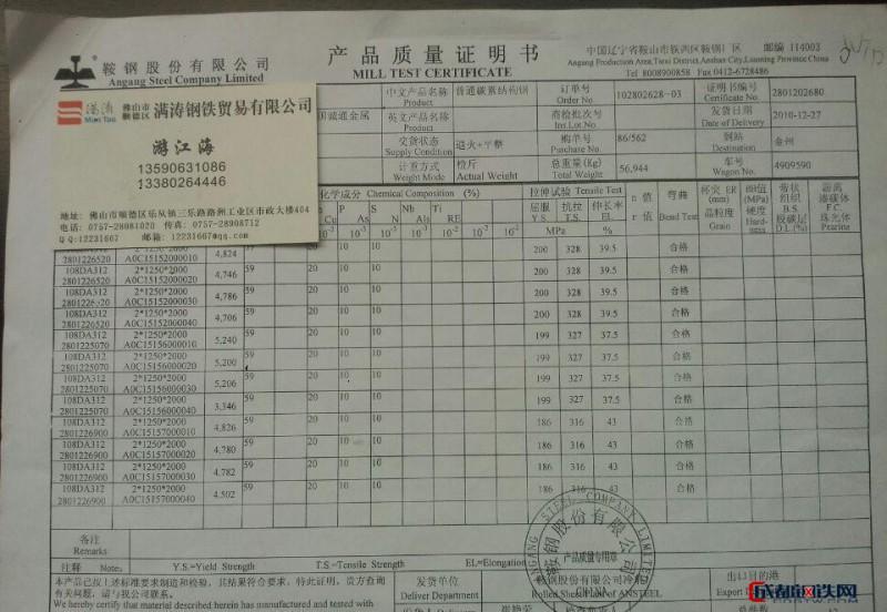 广东佛山乐从鞍钢冷轧盒板ST12 新货上市图片