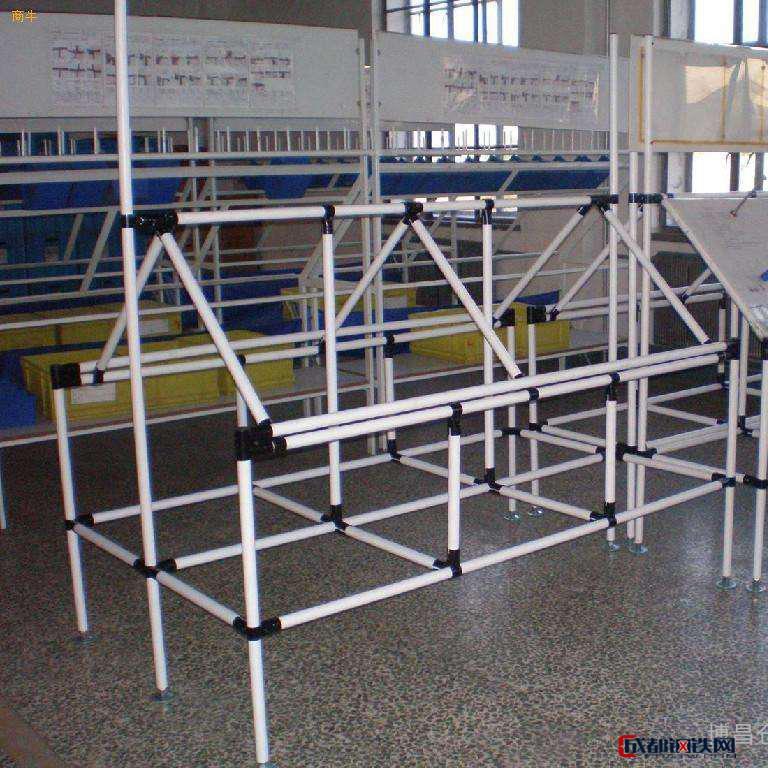博昌仓储   线棒架 覆塑管 精益管流利条货架防静电线棒滑轨货架