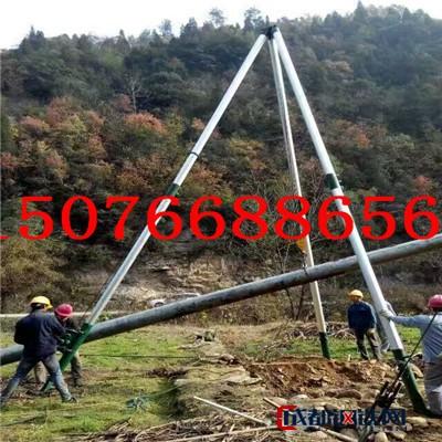 华忠三角立杆机 齐全管式抱杆 100管山区用 铝合金立杆机 承重