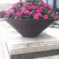 中国大型不锈钢花箱厂家_特攻不锈钢花箱花钵定制_绿化工程黑色氟碳漆花箱