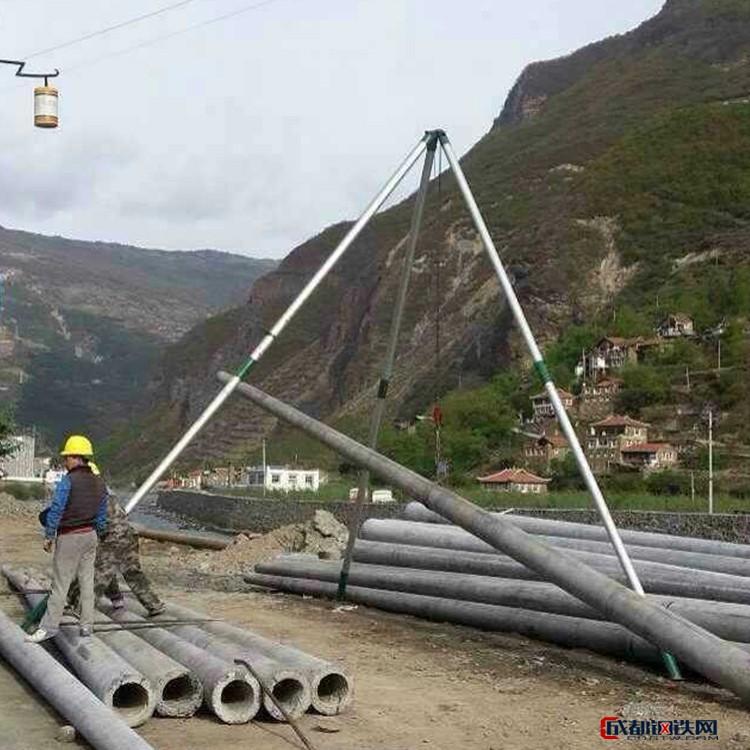 【嘉鹏】 15米三角扒杆 抱杆 电杆立杆机 铝合金三角架 管直径150