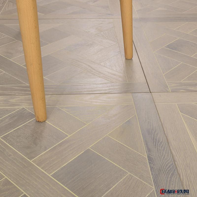 欧式橡木地板 环保实木多层复合地板橡木地板  几何拼花地板 木蜡油