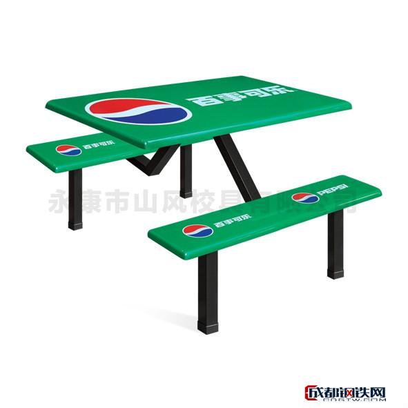 山風校具SF-F509食堂餐桌 餐廳餐桌 條凳餐桌