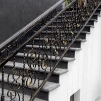 成都金河谷小区铁艺楼梯栏杆 阳台栏杆