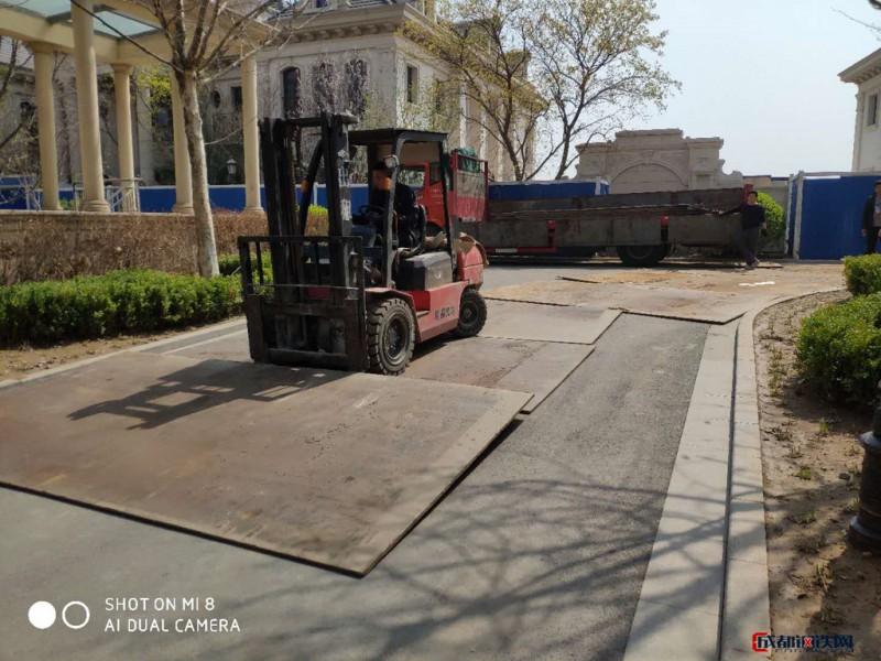 鋼板路面出租 鋪道鋼板出租 路面鋼板出租 鋼板路面租賃 開槽鋼板出租圖片