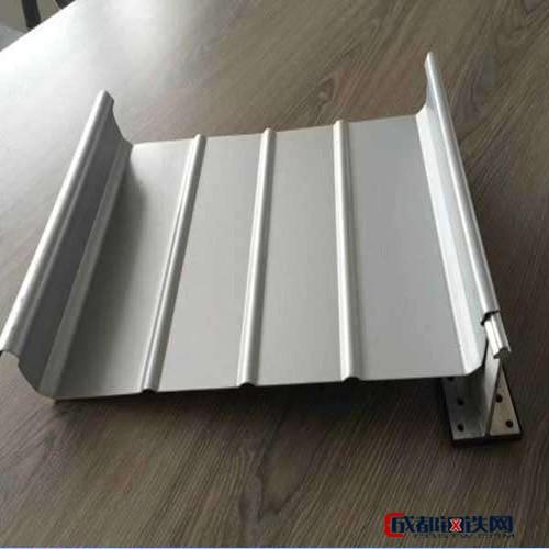 铝镁锰板厂家 铝镁锰咬口板 直立锁边铝镁锰板 美观耐用合金板 65-430屋面板图片
