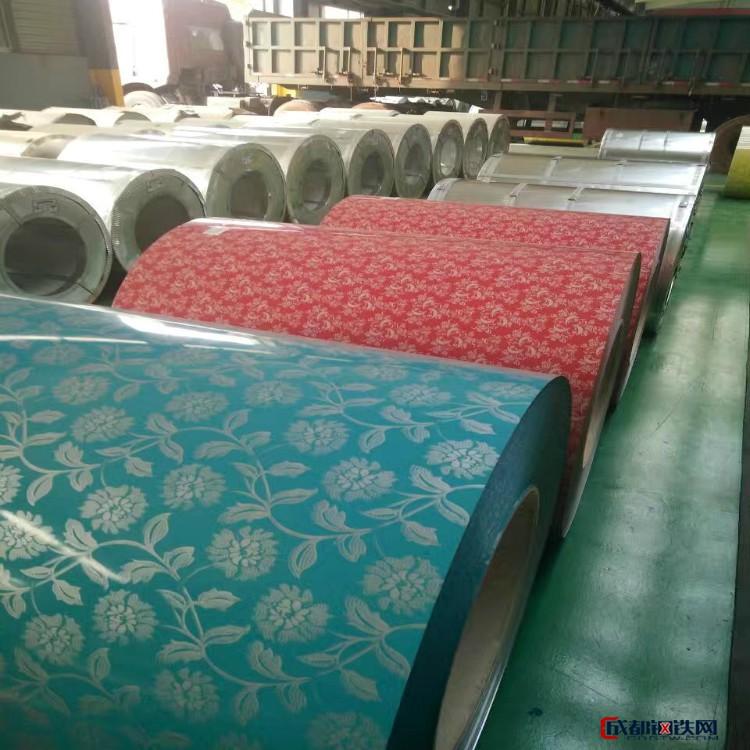 專業廠家供應印花彩涂花型彩鋼卷 印花彩鋼板 鍍錫板彩涂圖片
